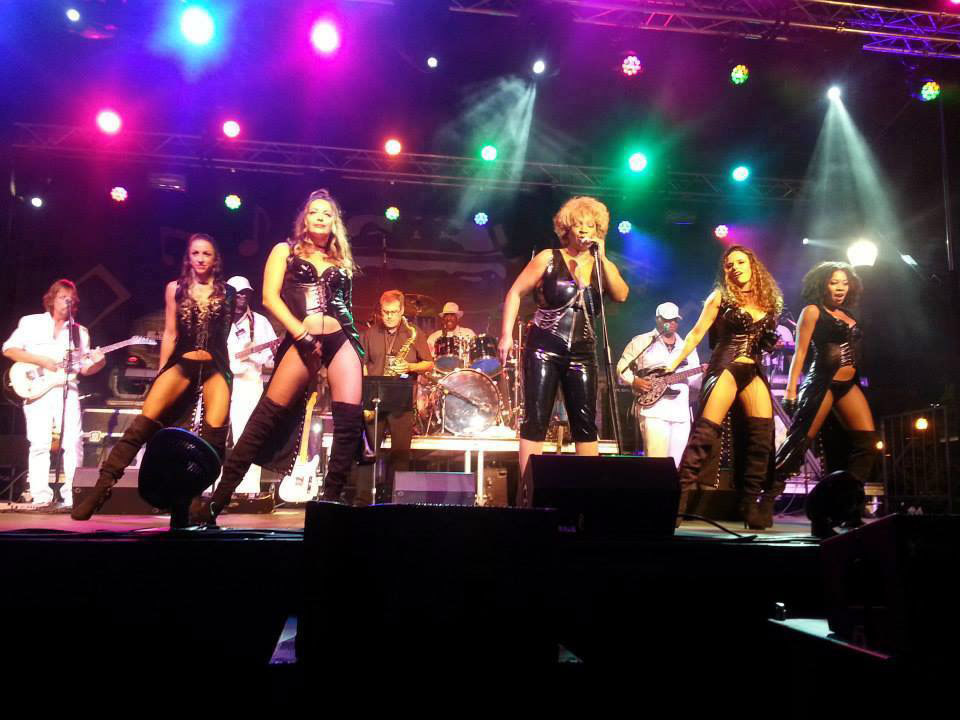 Photo of a Tina Turner Tribute Band playing a show for special event, Hot August Nights.